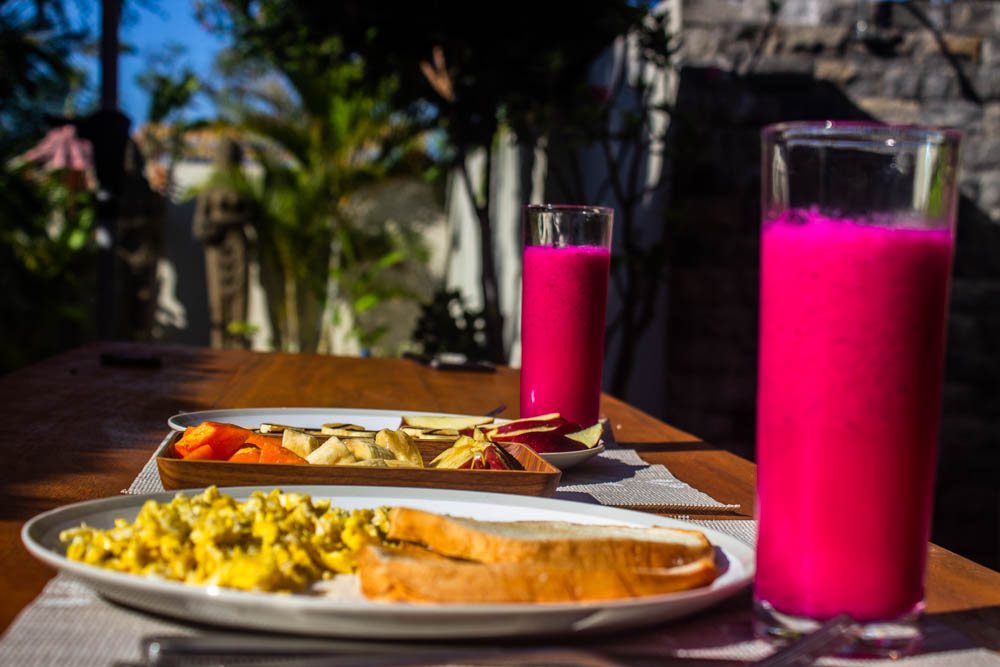 Breakfast at DHM Surf and Stay Lombok
