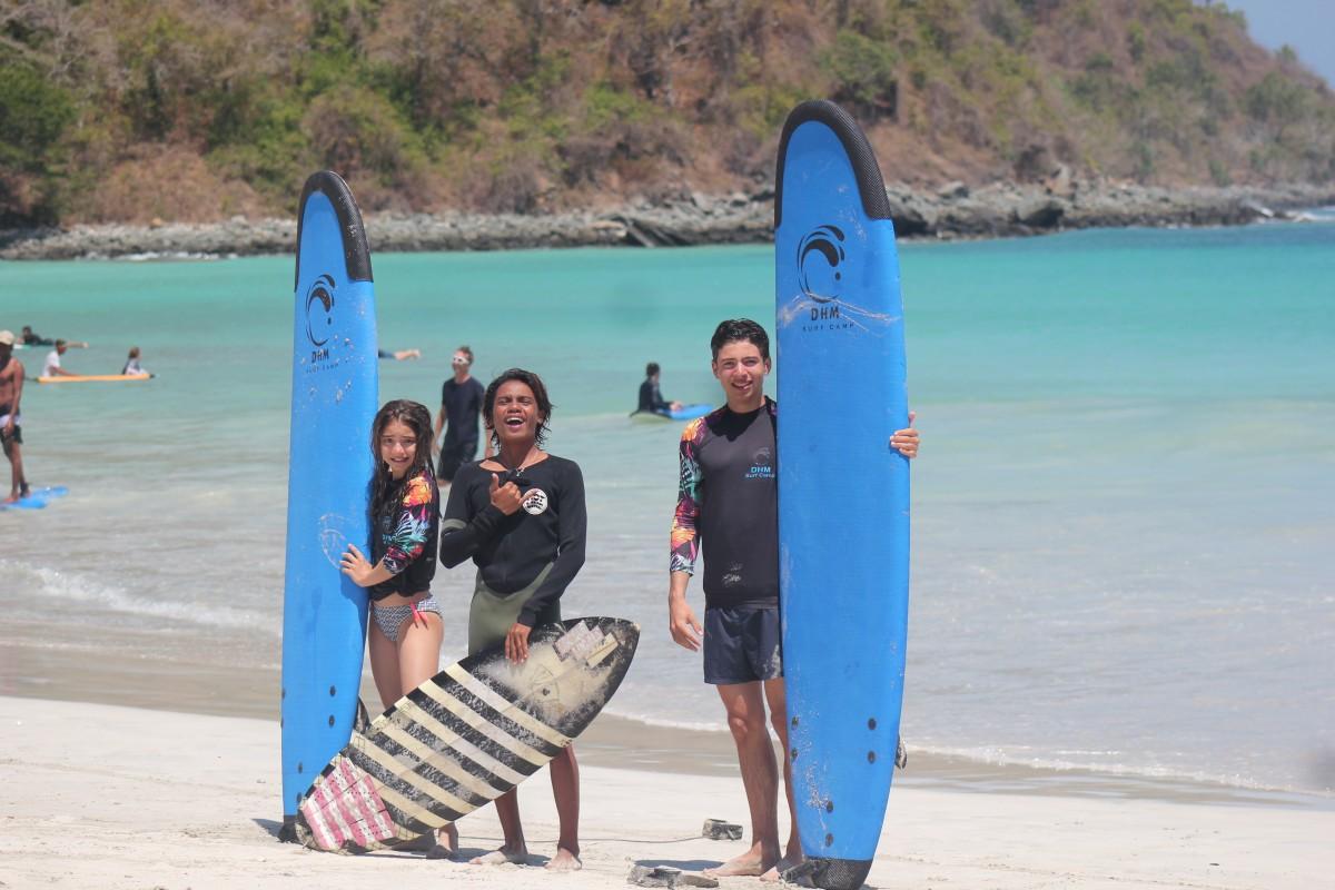DHM kids friendly surf camp lombok
